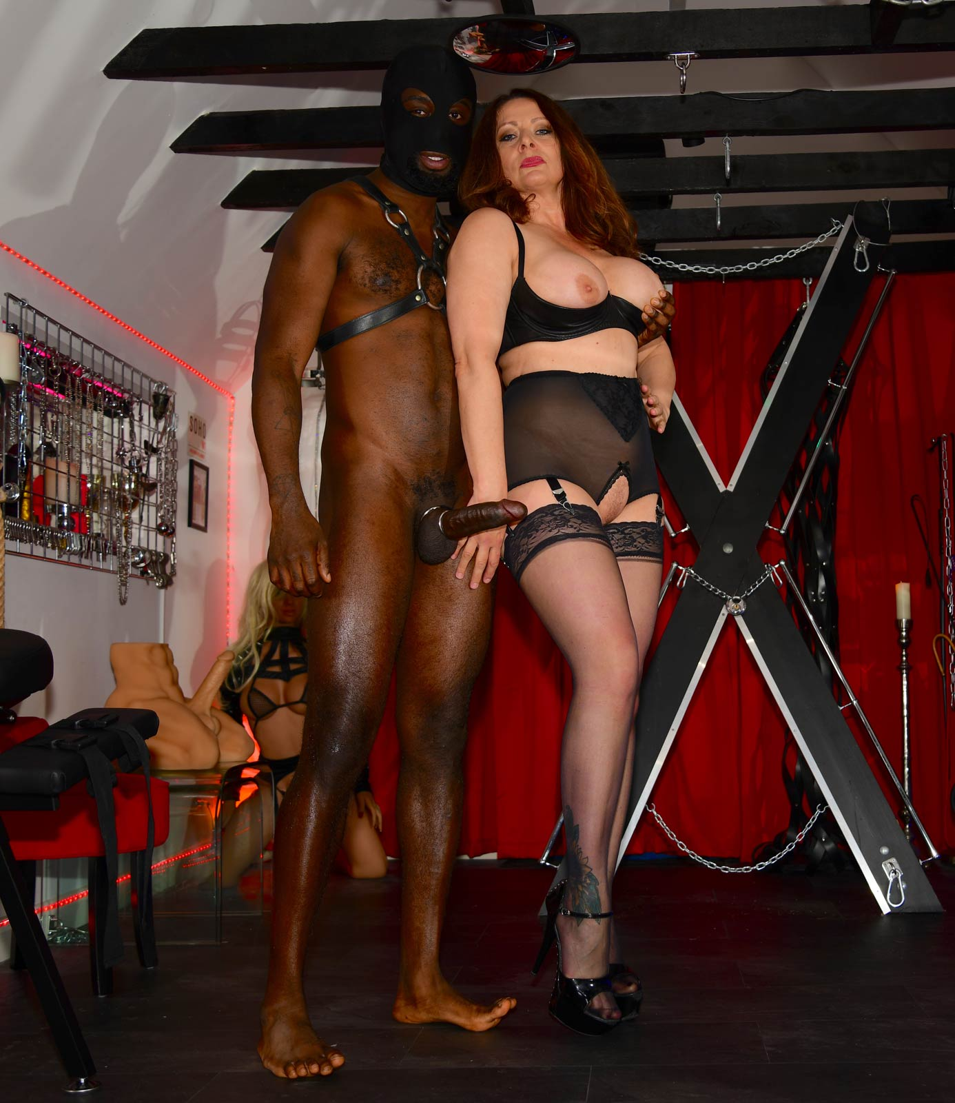 Cuckold and Enforced Bi with Mistress Carly and Her Black Stallion